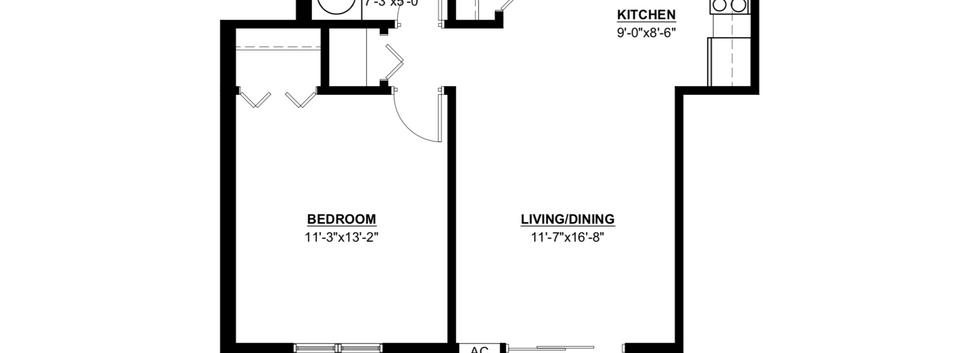 Hidden Valley One Bedroom Standard Apartment