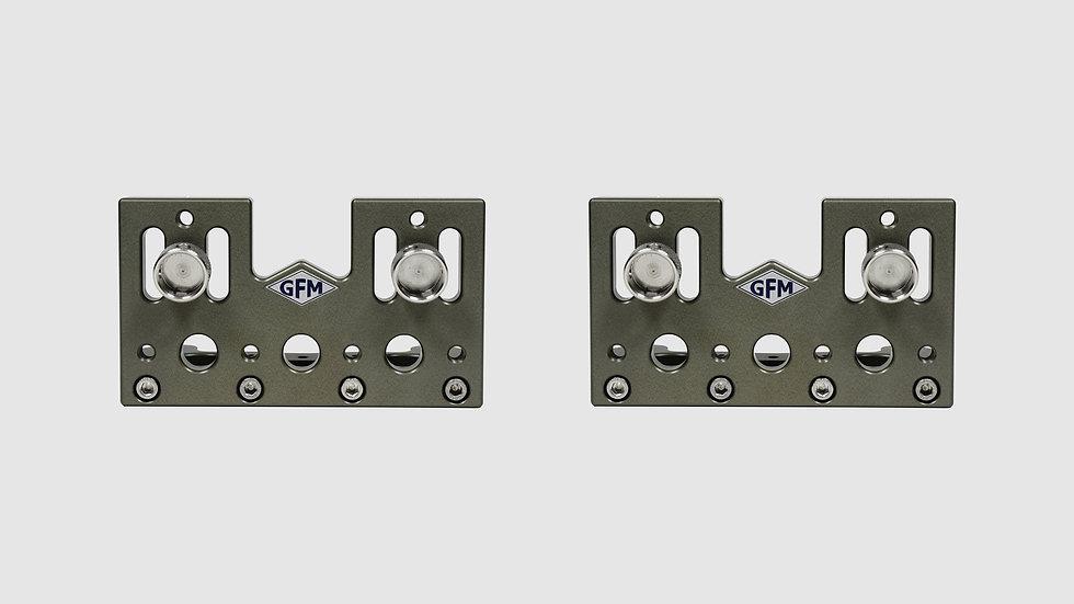 "AL-2586 — Pair of side plates for GF-Slider (medium), 8 cm / 3 1/8"" (2 pcs.)"