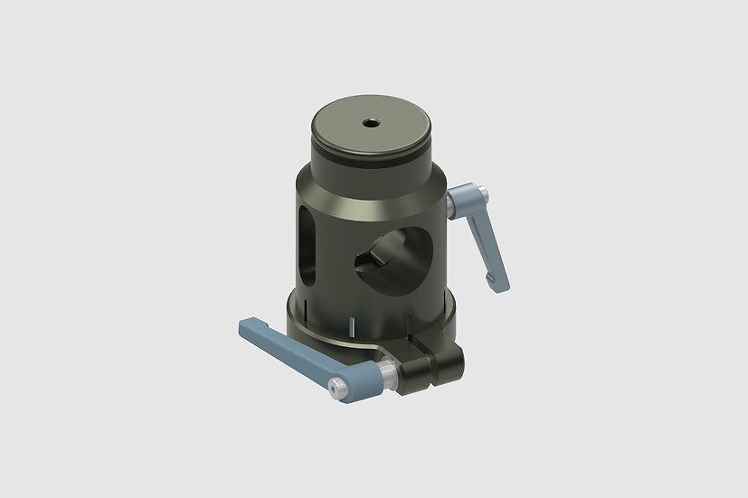 """AL-2313 — Euro Riser 13cm / 5"""" with scaffold clamp"""