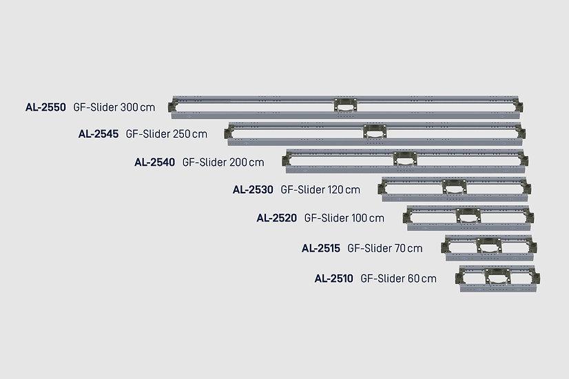 "GF-Slider, 250 cm / 8'2"""