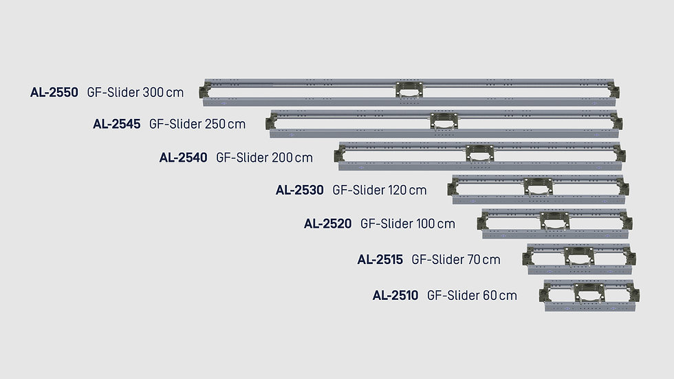 "GF-Slider, 70 cm / 2'4"""