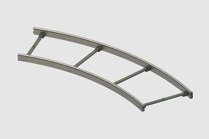 TR-40456 — GF-Steel Track (62cm gauge) 45° Curve