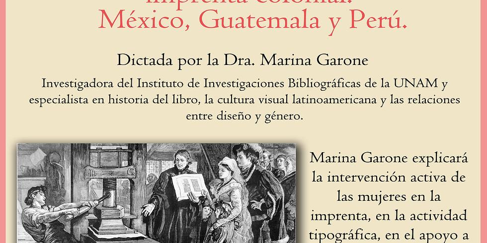 La participación de la mujer en la imprenta colonial.  México, Guatemala y Perú.