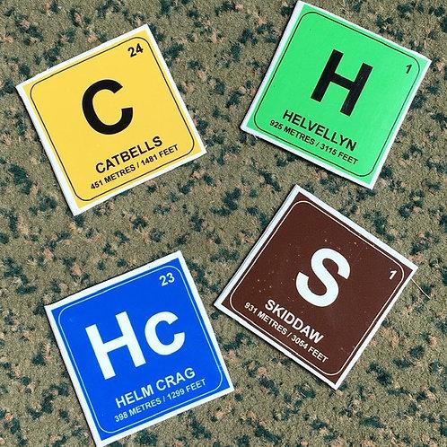 Cumbrian Chemistry Tile Magnet