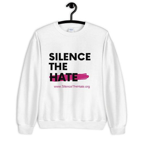 """""""SilenceTheHate"""" Unisex Sweatshirt (White)"""