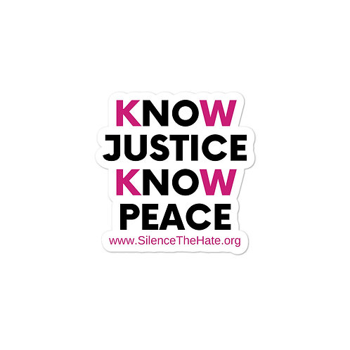 Know Justice Know Peace stickers