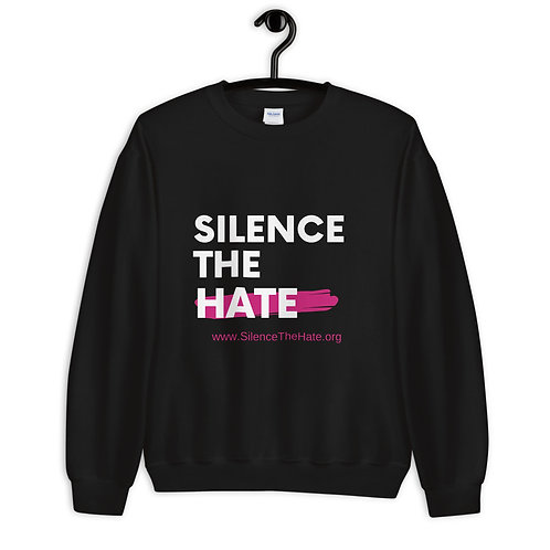 """SilenceTheHate* Unisex Sweatshirt (Black)"