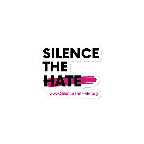Silence The Hate Bubble-free stickers