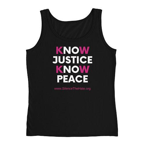 'Know Justice Know Peace Tank (Black)