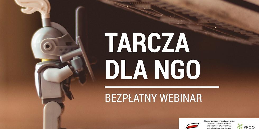 """Webinar """"Tarcza dla NGO - jak funkcjonować w czasie epidemii?"""""""