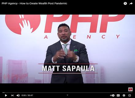 Matt Sapaula - How to Create Wealth Post