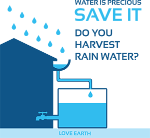 Do you harvest rainwater ?