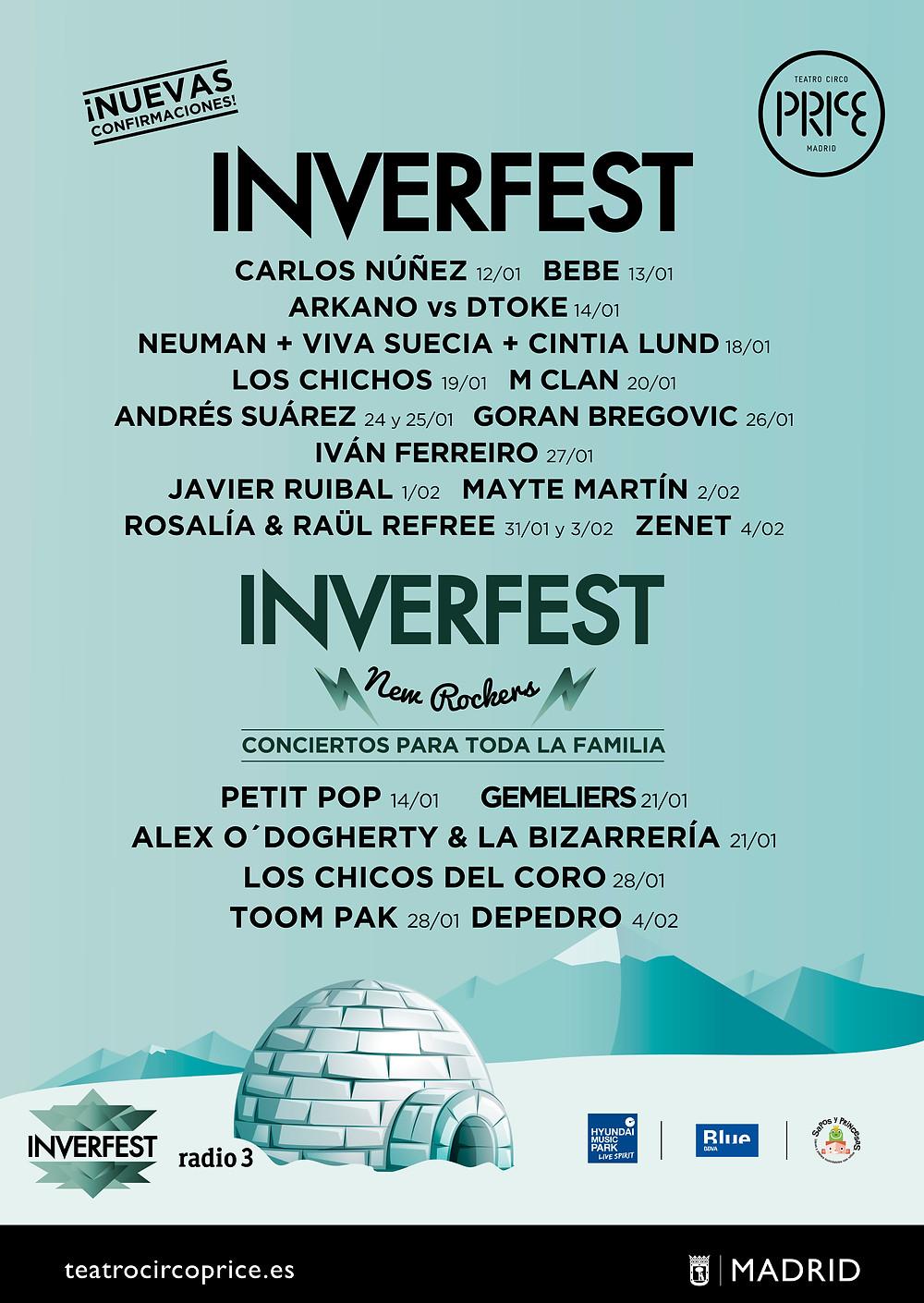 inverfest 2018 cartel artistas