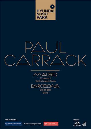 Paul Carrack en Madrid y Barcelona