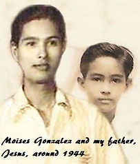 Moise Gonzalez and my father Jesus, around 1944