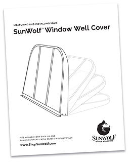 SunWolf Window Well Covers Measuring Installation Guide
