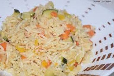 Timbale de riz et ses petits légumes