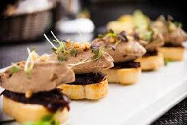Foie gras de canard sur toast ou pain d'épices