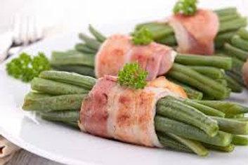 Fagots d'haricots vert lardé