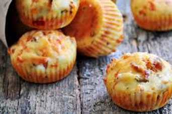 mini cake aux olives, jambon, fromage