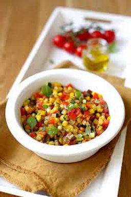 salade de crozets et ratatouille croquante
