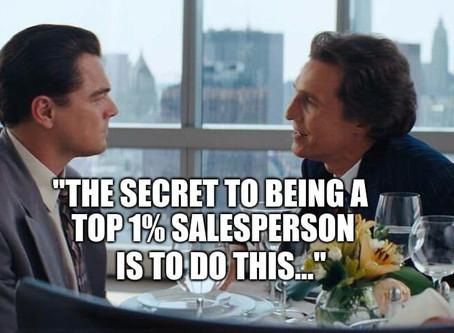 Uma Estratégia simples para transformá-lo num vendedor do 1% do Topo
