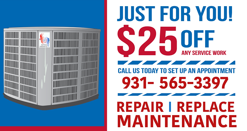 J&J Heating and Cooling in Tennessee and Alabama offers coupons to their air conditioner heating reapir customers