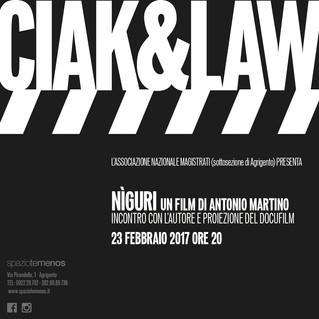 """A San Pietro il docufilm """"Nìguri"""", nasce il ciclo di incontri """"Ciak&Law"""" promosso dall'Anm"""