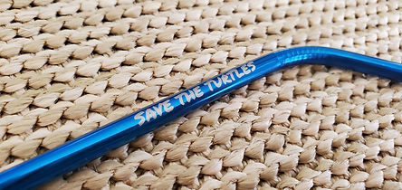 Blue save the turtles straw