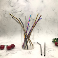 Different shapes and colours of our stainless steel straws