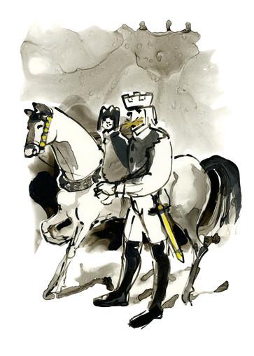 Kong Gullbust kommer til Gammelgård