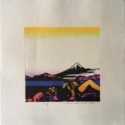#4021 Landscape with Fuji