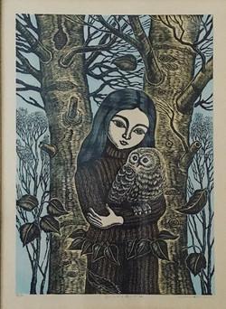 #4025 Girl and owl