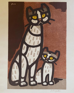 #4014 Cat mother and child