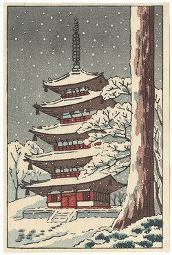 #3074 Pagoda in snow