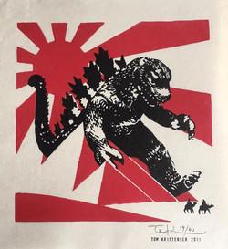 #3064 SOLD Godzilla in Egypt