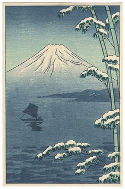#3010 SOLD Mount Fuji in Winter