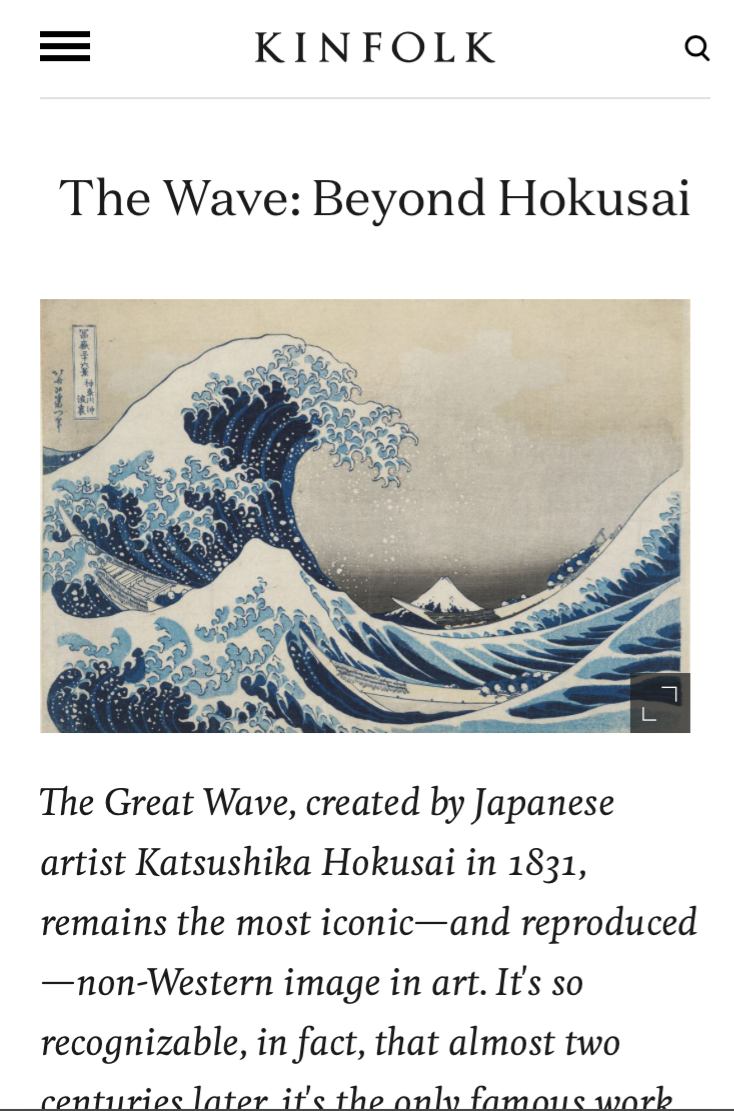 Kinfolk: The Wave Beyond Hokusai