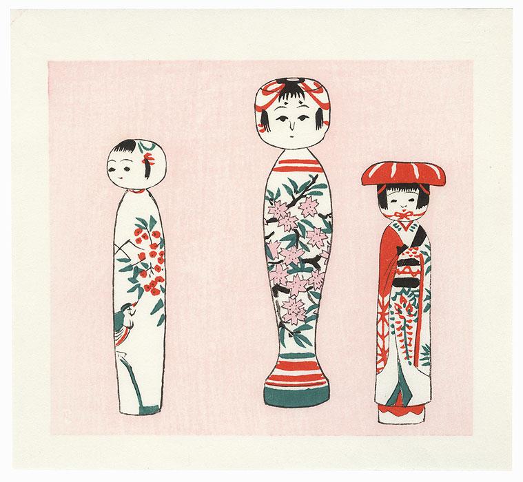 #4004 Kokeshi dolls