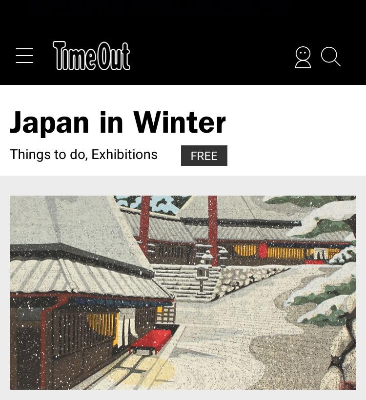TimeOut: Japan in Winter