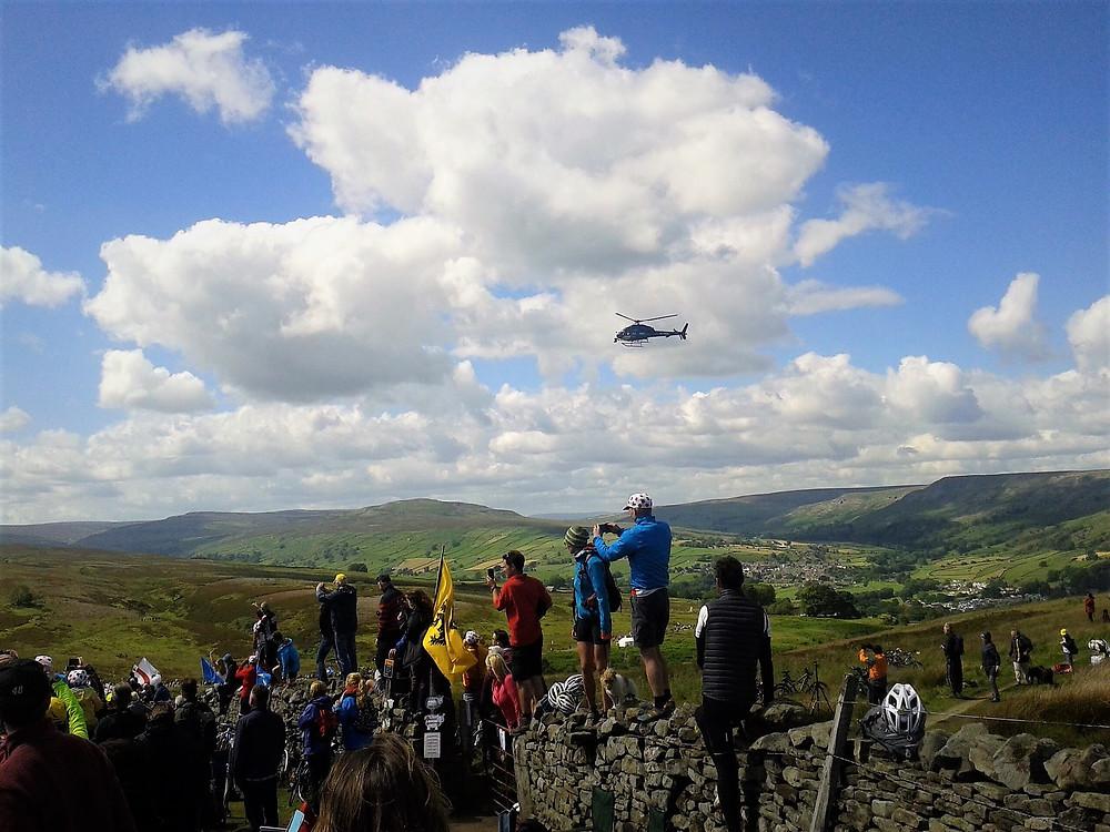Crowds wathing Tour de france 2014 Col du Grinton