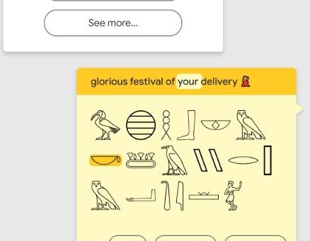 Translate hieroglyphics with Google