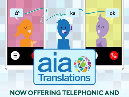 aiaTranslations offers telehealth interpreting in over 200 languages