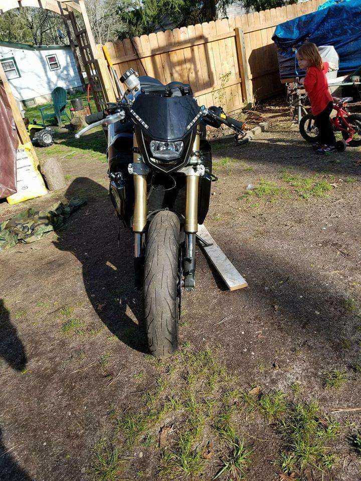 Motorcycle used for custom streetfighter  build
