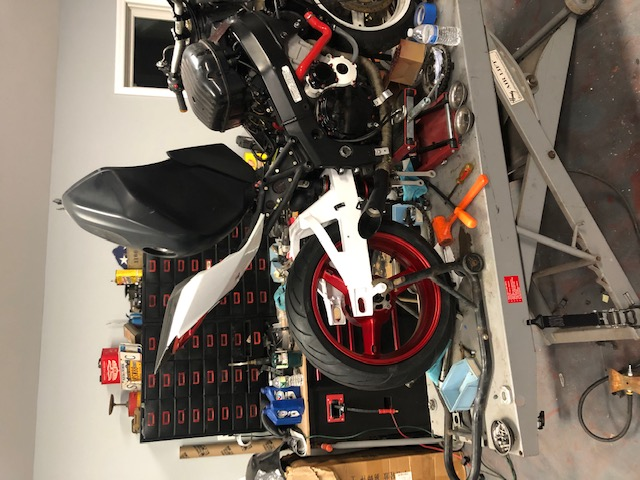 Mounting Rear Tire and Exhaust