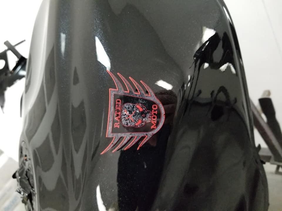 Rated X Moto Cusom bike coming together