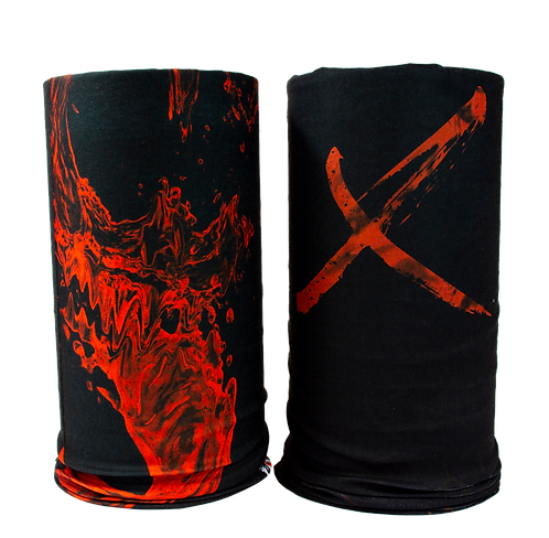 Liquid X Skull Gaiter Face Mask Bandanna