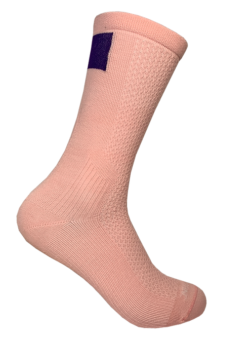 Corner Office Sock - Powder Pink