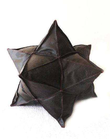 Leather Star Cushion