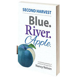 Blue. River. Apple. Book